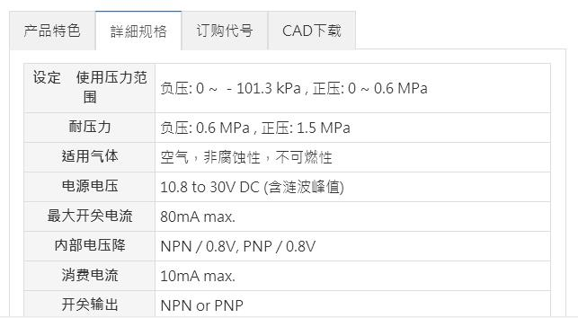 Mindman压力传感器MP10系列